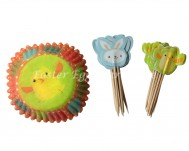 Easter Cupcake Cases and Cake Toppers