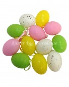 Plastic Speckled Coloured Eggs