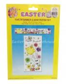 Easter Plastic Banner and Door Poster Set