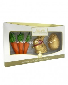 lindt egg carrots and bunny 130g