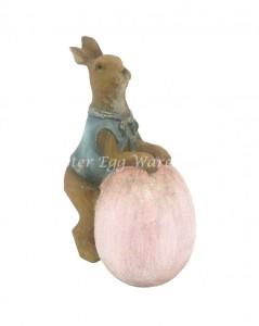 pink egg bunny ornament
