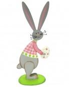 standing grey bunny ornament