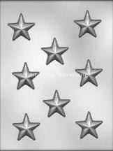 raised star chocolate mould