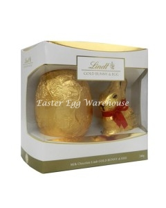 lindt milk chocolate bunny and egg