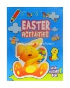 easter activities with stickers blue