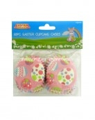 easter cupcake cases 50pc pink eggs