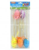 glitter egg picks large-5pk
