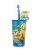 minions bottle and straw