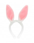 White fluffy bunny ears