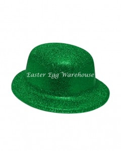 easter-plastic-glitter-hat-green