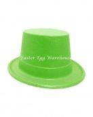 easter-plastic-glitter-top-hat-green