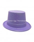 easter-plastic-glitter-top-hat-purple